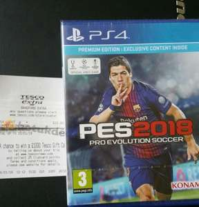 Ps4 and xbox one PES 2018 £10 at Tesco extra instore - Bradford