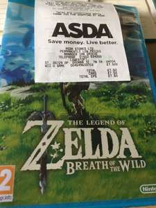 Legend of Zelda - Breath of the Wild -Wii U £7.50 @ Asda (plus other Asda fire sale offers /  instore gaming deals)