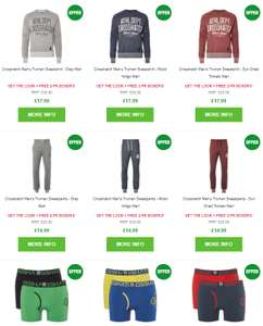 Crosshatch sweatshirt / Sweat Pants and 2pk Boxers £24.99 @ Zavvi
