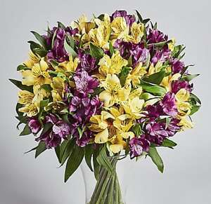 Save £5 on valentines flowers from m&s free del for feb 14th e.g Alstroemeria Abundance Bouquet £25