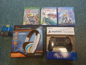 Good deals instore at Tesco  - PS4 Dualshock 4 Controller / Giotech 0V1 Headset / Ratchet & Clank / Wipeout / Lego City Undercover PS4/Xbox / Xbox One S Console Minecraft Pack - prices from £3.75