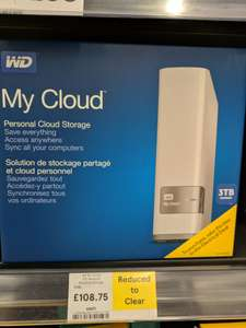 WD 3tb My Cloud, Tesco in store - Loughborough Park Road for £108.75