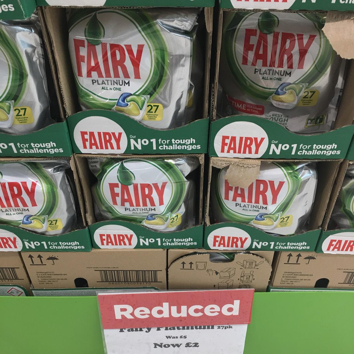 Fairy Platinum 27 Dishwasher Tablets £2 @ Asda - Kingswood Hull
