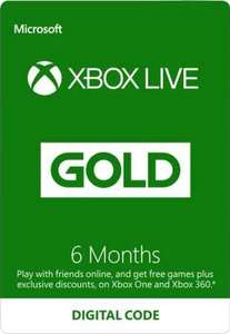 Xbox Live Gold 6 Month Subscription €19.99 (approx. £17.75) @ gamestop Ireland