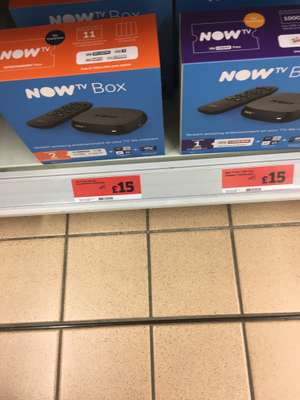 NOW tv box with 1 or 2 months pass - £15 instore @ Sainsbury's