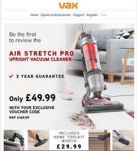 Vax subscriber E-mail offer: Air Stretch Pro for review @ £49.99. 200 only.