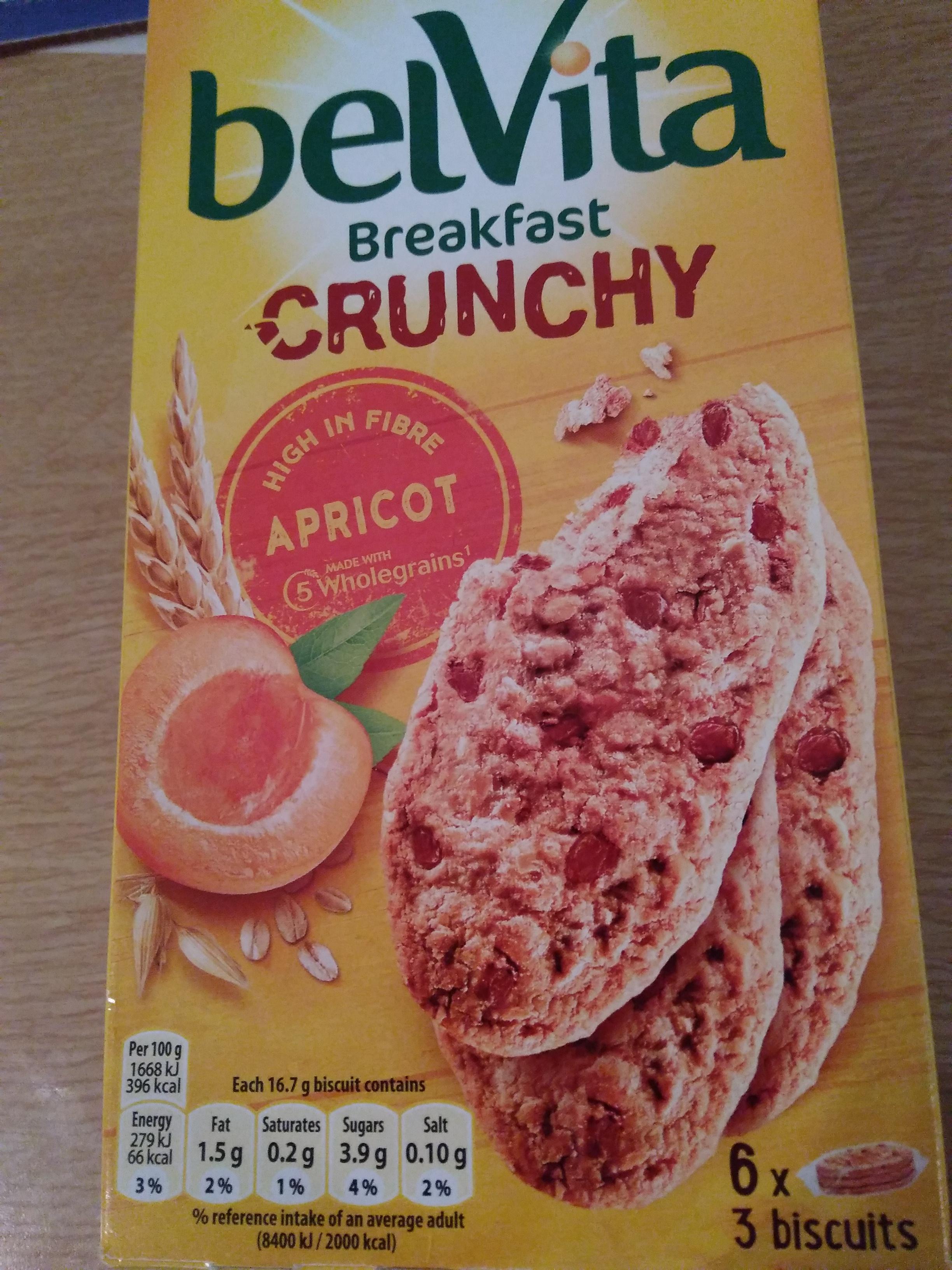 Belvita Crunchy 6 x 3 Biscuits 99p in Heron Foods