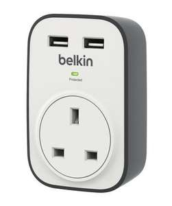 Belkin SurgeCube 1 Outlet Surge Protector with 2 x 2.4A Shared USB Charging £7.49 at Maplin