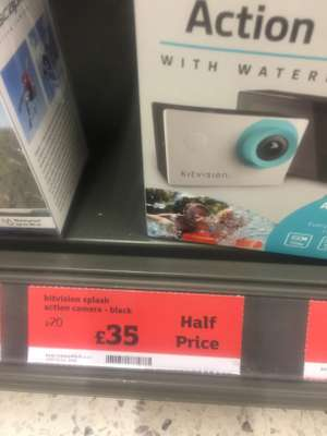 Kitvision splash action camera reduced from 70 to 35 @Sainsbury