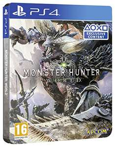 Monster Hunter World Steel Book Edition (Exclusive to Amazon.co.uk) (PS4/XBOX ONE) -  Prime member 45.99