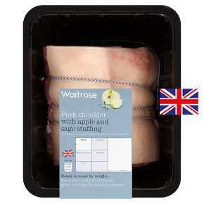 Waitrose British pork shoulder with apple and sage stuffing £2.72