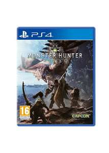 Monster Hunter World PS4 w/ bonus dlc and keyring - £40.85 @base.com