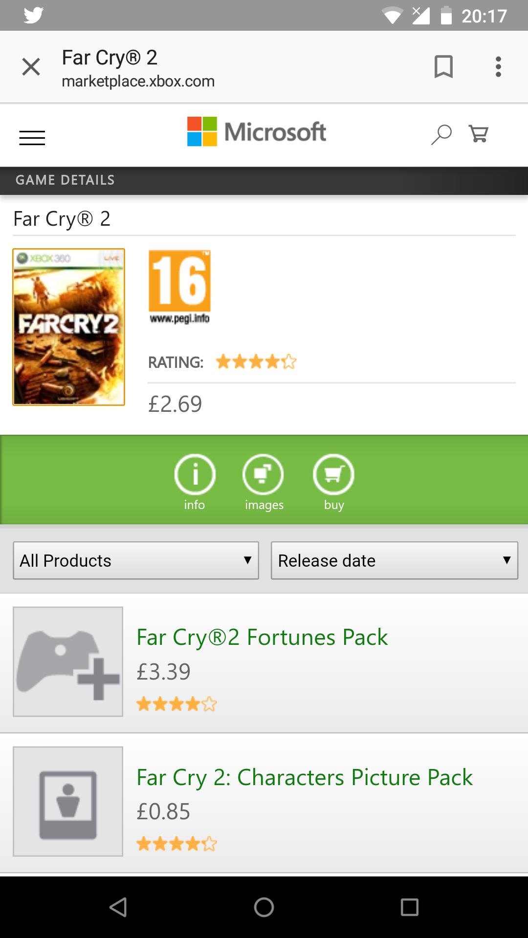 Xbox 360 - Far Cry 2 - £2.69 @ Xbox Marketplace