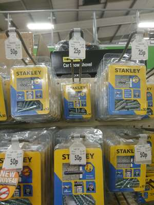 Stanley fixtures and fittings - prices from 25p - instore @ Homebase