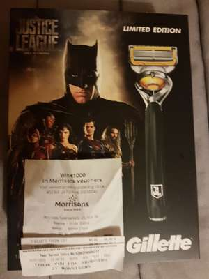 Gillette Fusion Proshield ltd edition justice league handle and 4 blades - £6 instore @ Morrisons