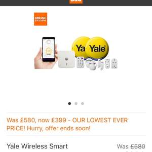Yale Smart Home Alarm, view & control kit - SR-340 was £580 now £399 instore at B&Q