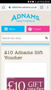 Adnams brewery glitch £3.99 for bottle opener £10 Gift voucher delivered with code