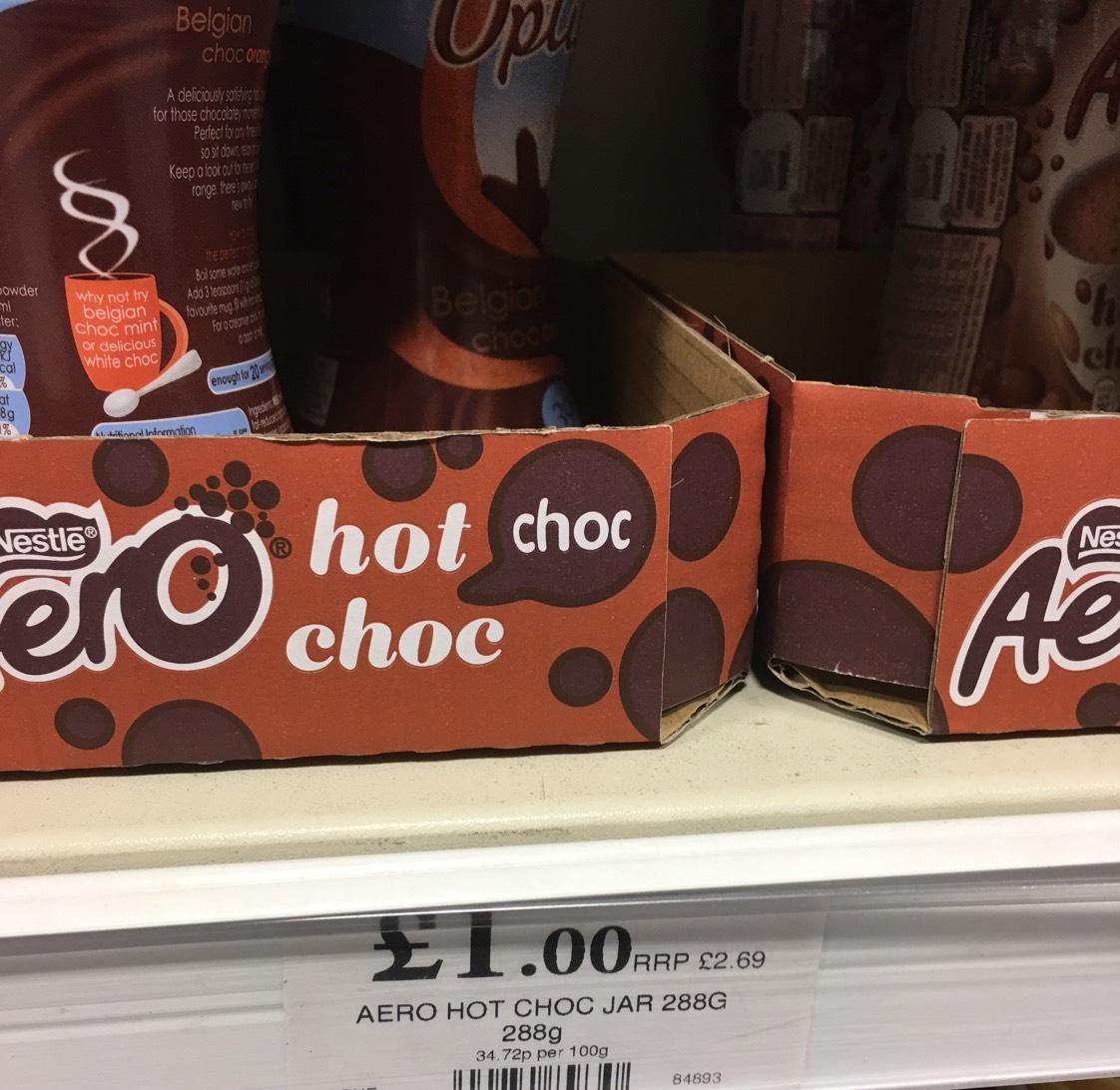 Nestle Aero Hot Chocolate (288g) £1.00 @ Quality Save