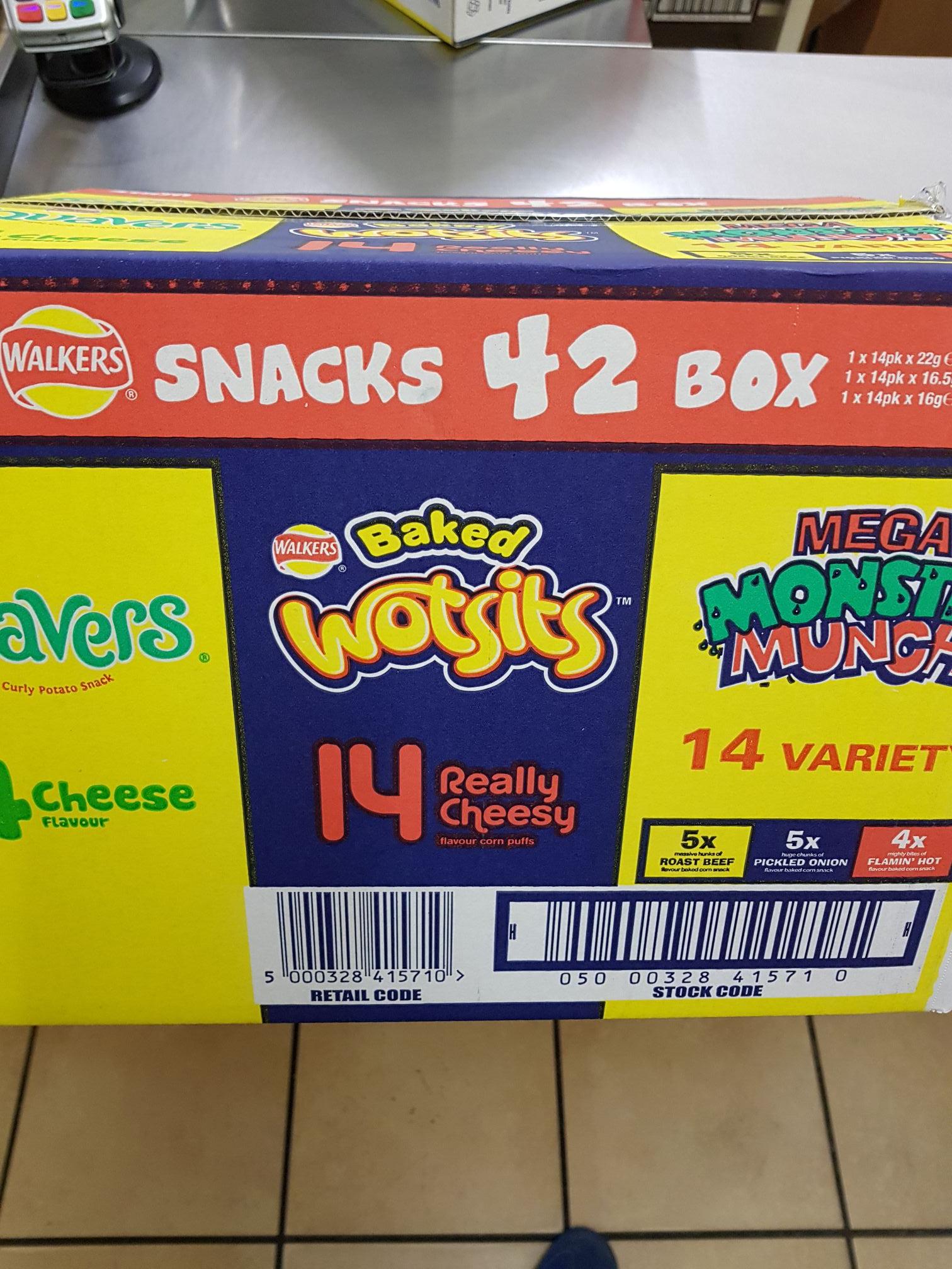Box of 42 walkers crisps £2.99 @ farmfoods