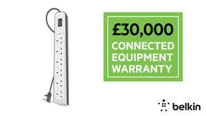 Belkin Surge protector extension leads on Sale at BT Shop  - 6 gang £14.98