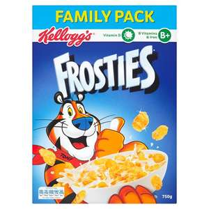 Family Packs of Frosties 750g, Cornflakes 790g Cocopops 510g  £5 for 3 packs @ Tesco
