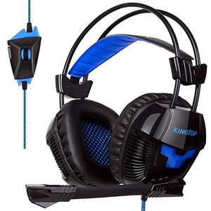 Gaming Headset on offer - Blue only £12.99  (Prime) / £17.74 (non Prime)  Sold by KINGTOP International and Fulfilled by Amazon.