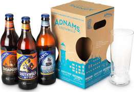 3 beer selection + Adnams glass for 2.99 using TREAT10 code (for those who missed the 6 pack deal)