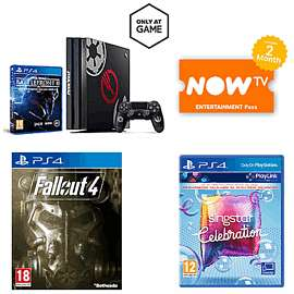 PS4 Pro + Star Wars Battlefront II Limited Edition + Singstar Celebrations + Fallout 4 + Now TV 2 Months Entertainment Pass £299.99 @ Game