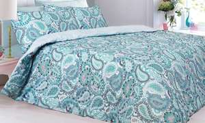 Duvet set reversible from £5 + £1.99 p&p at Groupon