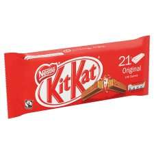Kit Kat 2 Finger Milk Chocolate Biscuit 21 Pack 436.8G Reduced to  £2.00 @ Tesco