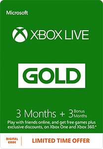 6 months Xbox live for £14.99..(buy 3 months.. Get another 3 months free) - GAME online