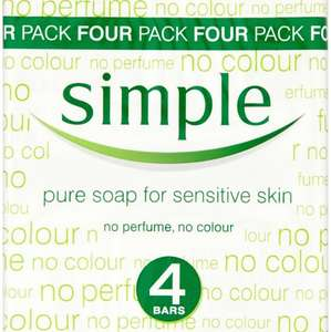 Simple Soap 4 Pack 1/3 Off - £1.66 at  Waitrose