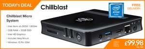 Chillblast Microsystem £99.98 with Win 10 Pro at  Ebuyer