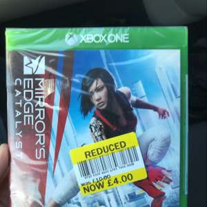 Mirrors Edge Catalyst XBOX £4 Tesco Instore