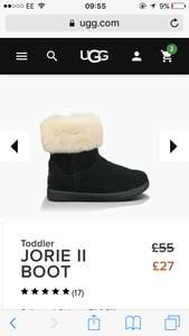 Ugg toddler jorie ll boots - £27