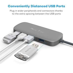 USB C Hub, HooToo Type C Adapter Hub with 4 USB 3.0 Ports e.g. for new Macbook pro £11.99 Prime /  £15.98 non Prime - Sold by Sunvalleytek-UK and Fulfilled by Amazon
