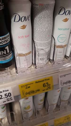 Dove deodorant women's 63p instore at Asda