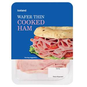 Iceland Wafer Thin Cooked Ham & Honey Roast Ham  160g 67p @ Iceland 7 Day Deal