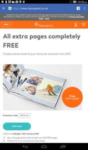 120 page photobook for price of 24 pages at Bonusprint - £30