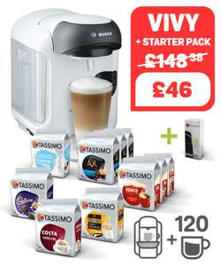 Brand new offers on Tassimo: Starting at £46 for Machine + 120 drinks!