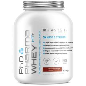 Save 25% on selected Sports Nutrition when you spend £50 or more (PHD pharma Whey plus other stuff available too) at Amazon