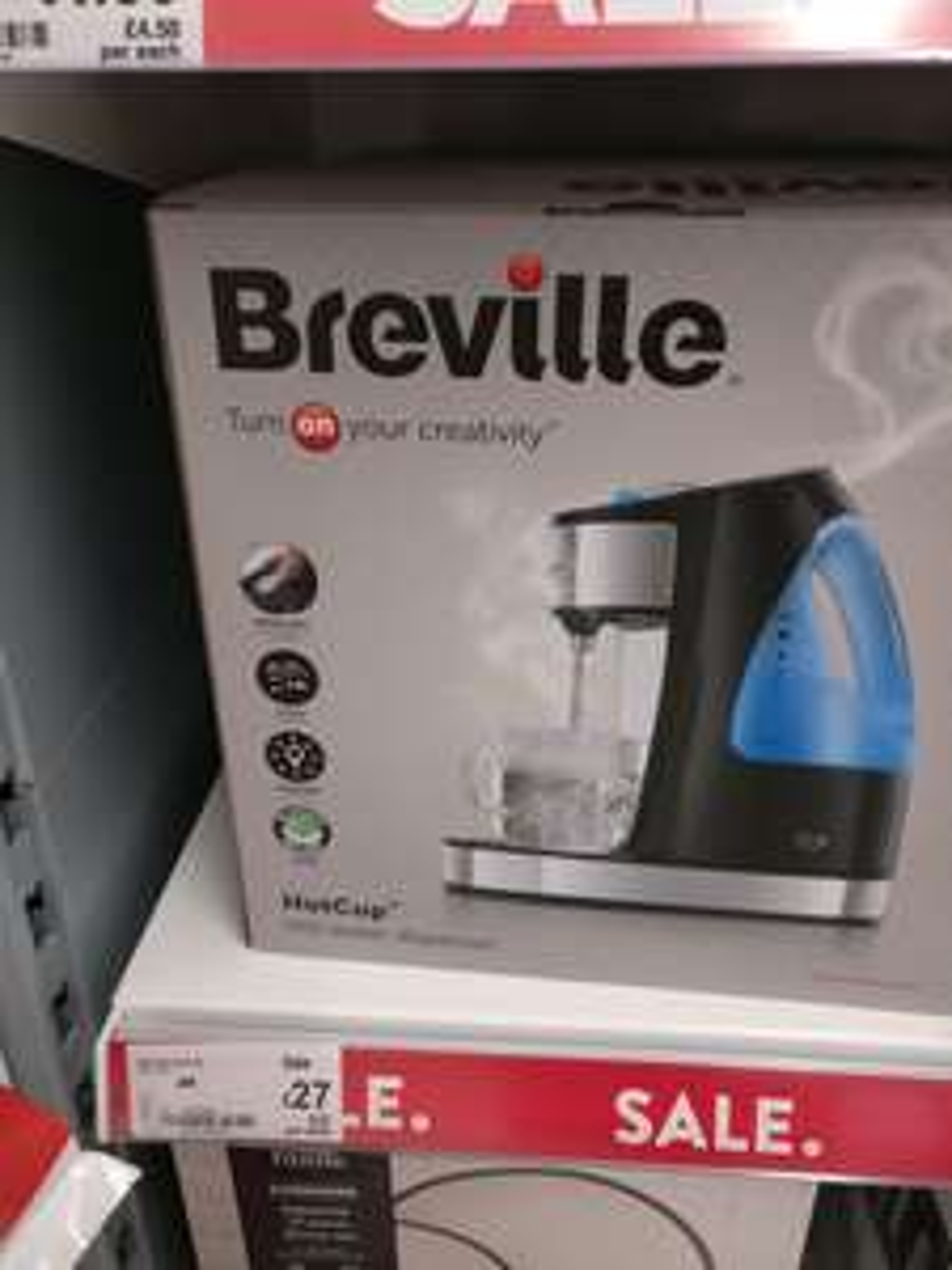 Breville VKJ142 1.5L HotCup Kettle £27 - Gloss Blackat Asda Marple (sold out online)
