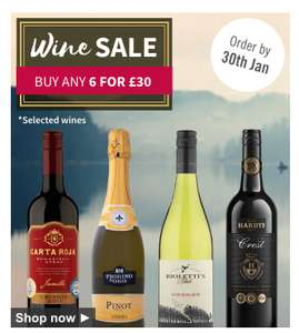 Ocado have 'buy any 6 wines for £30' offer on