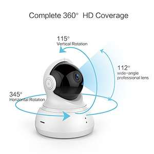 YI Dome Camera Pan/Tilt/Zoom Wireless IP Security Surveillance System 720p HD Night Vision (Cloud Service Available) now £28.99 with promo Sold by YI Official Store UK / Fulfilled by Amazon