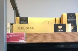 Belgian chocolate biscuits reduce to clear at Marks and Spencer for £3