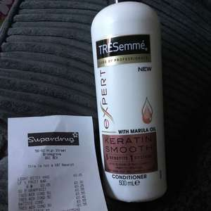Tresemme expert keratin smooth with Marula oil conditioner 55p @ Superdrug instore