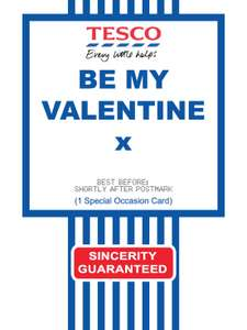Free Printable Tesco Value Cards  for various occasions including Valentines Day