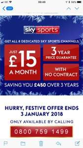 All of the Sky sports channels for £15 p/m 3 year guarantee - Sky retentions