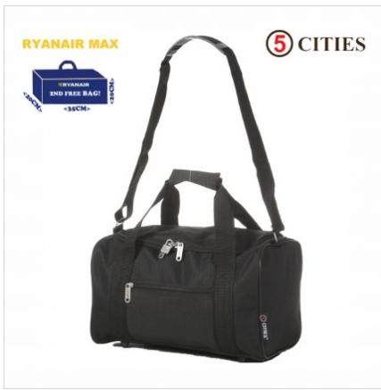 Flight Cabin Bag fulfils Ryanair criteria 35x20x20cm £8.99 delivered @ Travelluggagecabinbags
