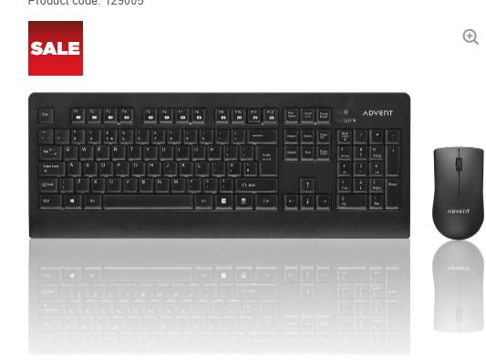 ADVENTADESKWL15 Wireless Keyboard & Mouse Set £14.99 @ Currys